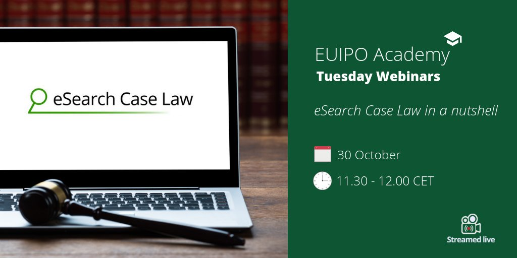 European Union Intellectual Property Office On Twitter Are You A Regular User Of Esearch Case Law Learn How To Make An Optimal Use This Euipo Database By Identifying The Search Options