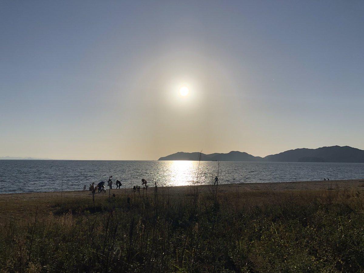 山口県光市 in虹ヶ浜海水浴場より「日の入り」