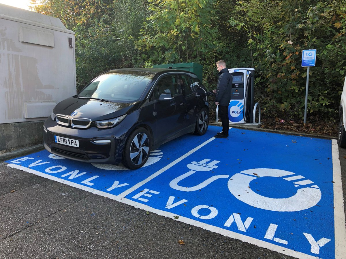 New Ultracharge installed on the @POLARnetwork at Buckmore Park Kart Circuit, ME5 9QG, just off M2 junction 3 in Chatham.  Cafe and free WiFi available on site, check the live map for open hours.  https://polar-network.com/live-map/  #ChargeUp #electriccars #evcharging