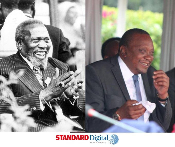 What are the comparisons between President Uhuru Kenyatta and his father?  Happy Birthday