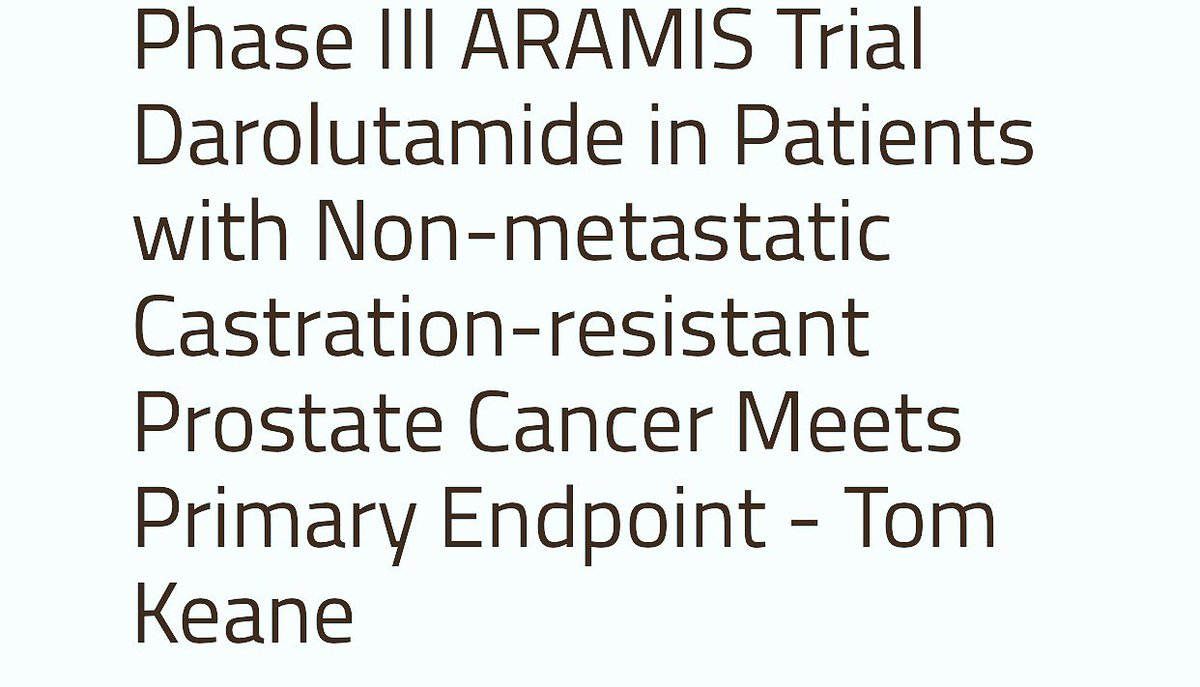 SPARTAN vs PROSPER vs ARAMIS Darolutamide(ODM-201) significantly extended metastasis-free survival ,compared to placebo.The safety profile and tolerability has been granted Fast Track by FDA