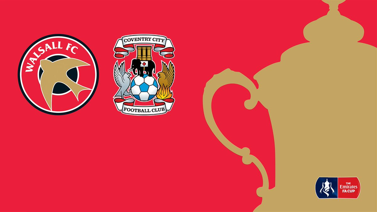 Emirates FA Cup: Coventry City (H) - Date & Ticket Prices Confirmed