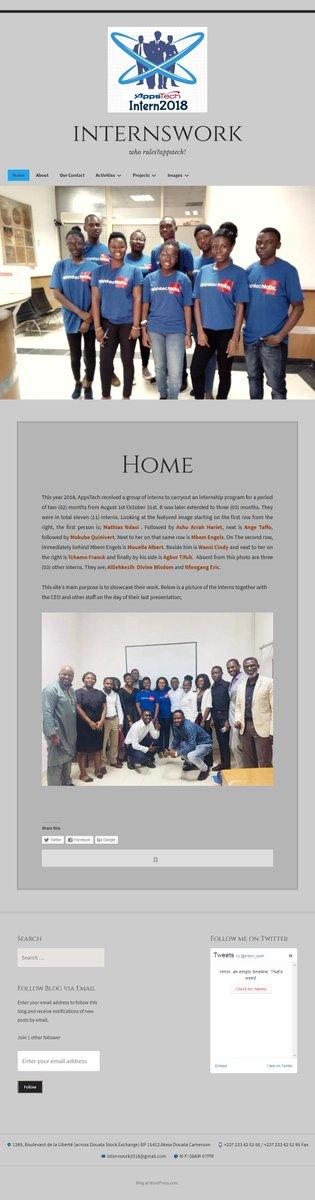 The blog of Appstech'interns is ready @AppsTech @africatechie @EwodoEwodo  @EricNiat @soukitresora @DanSalomon_ https://t.co/2cSMB4G82O