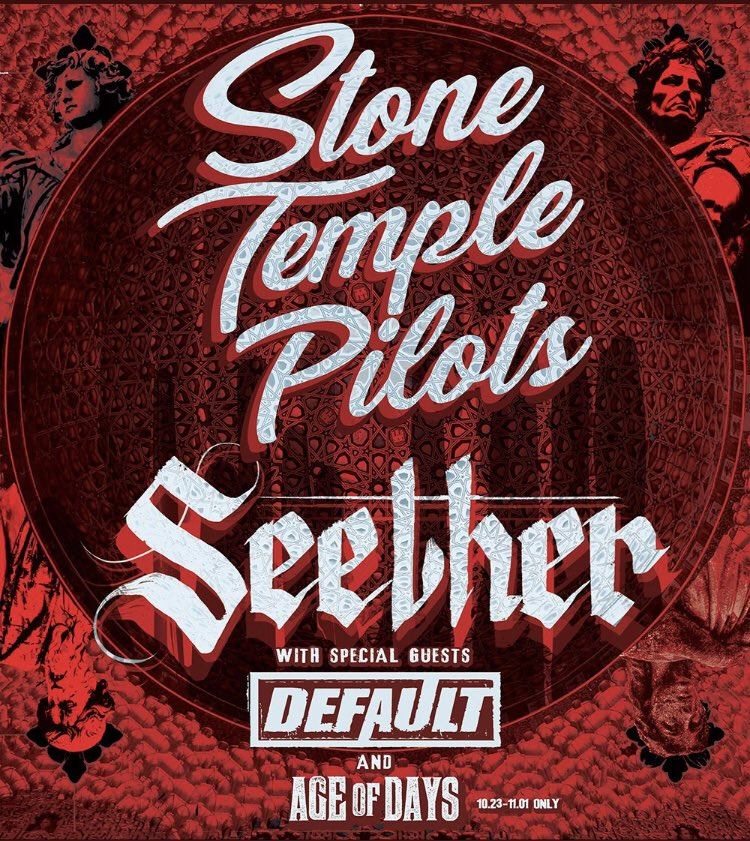 Speaking of give aways, it's time to give back! @Centre_Square & I want to make sure you & a friend have a chance to see @defaultcanada @STPBand & @SeetherOfficial on Nov.13 in Kitchener! RT this to qualify to win a pair of seats to what will be a roof raising concert to be sure!