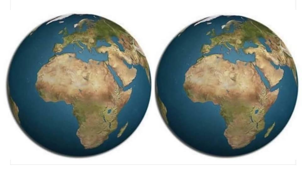 Uma foto do planeta terra, antes e depois da tua opinião...