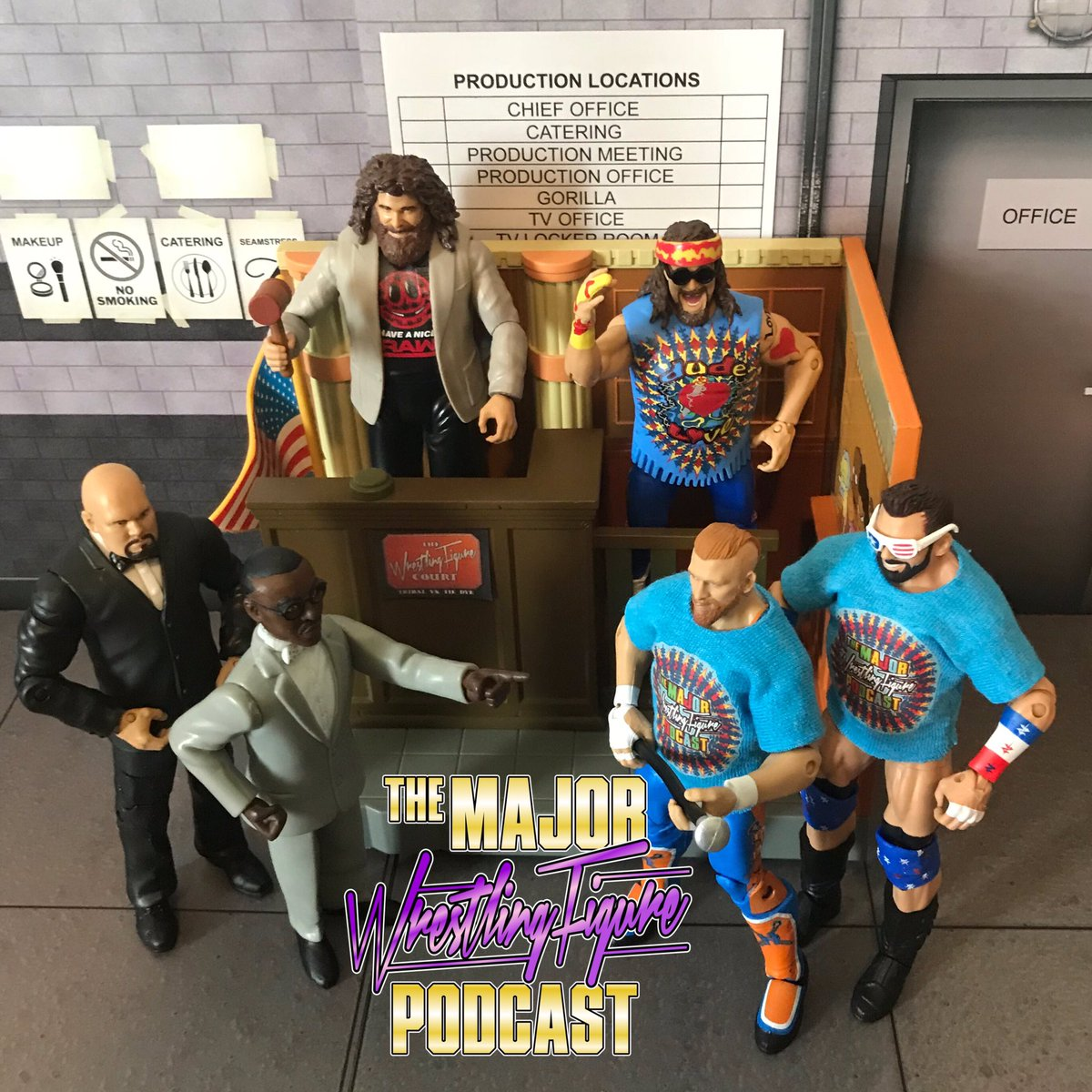 DOWNLOAD THIS WEEK'S #MAJORWFPOD! @TheCurtHawkins & @ZackRyder finally take @BillMiekina to #TheWrestlingFigureCourt and @RealMickFoley is the judge! #DUDEGATE Follow & RT to win one of these prizes!!! There will be 4 winners!