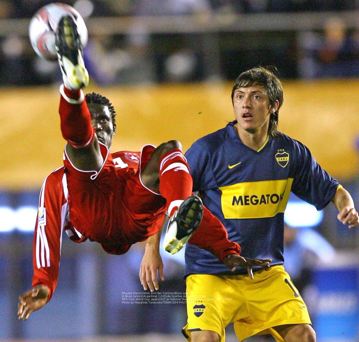Moussa Narrysahel And Neri Cardozoboca Juniors In Boca