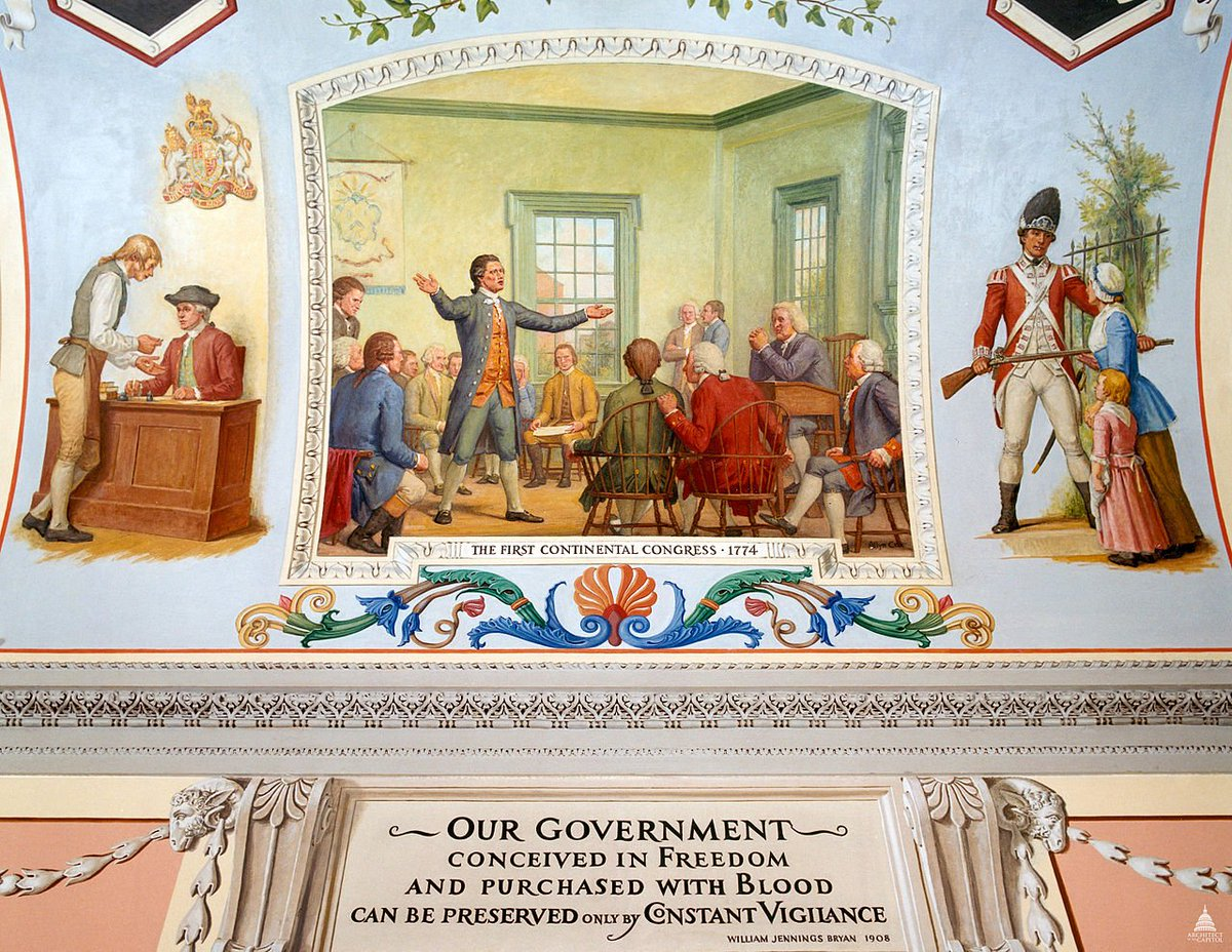 #OTD in 1774, the First Continental Congress disbands after agreeing to a boycott of British goods and agreeing to reconvene a second congress the following year. The Second Continental Congress would eventually vote for independence in 1776  PC: Cox—Great Experiment @uscapitol
