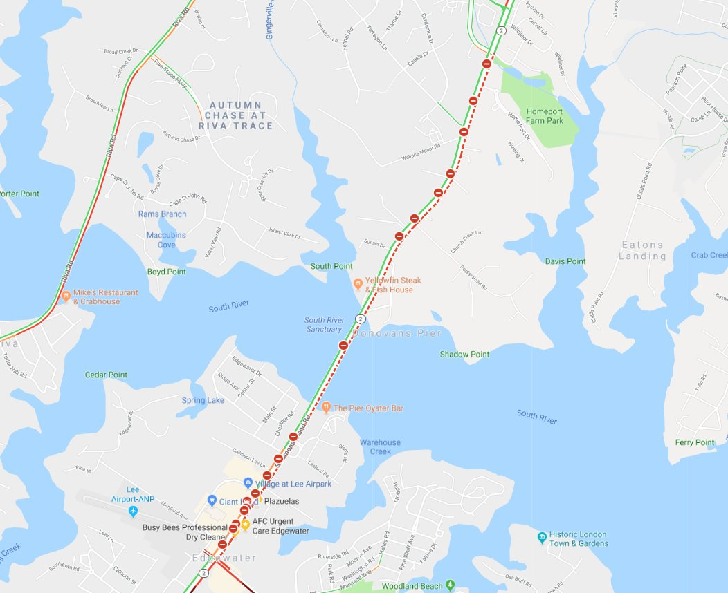 eye on annapolis on twitter traffic alerts route 2 north in