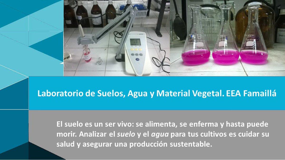 Inta Crtusgo On Twitter El Inta Famaillá Analiza Agua Y