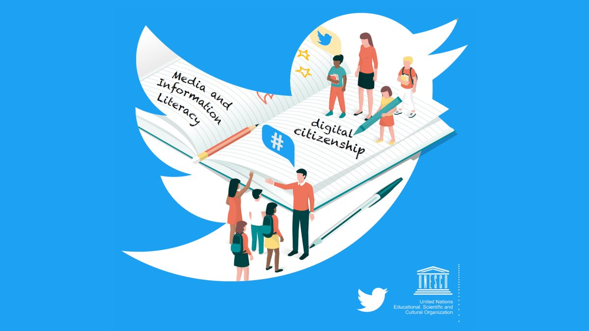 A healthy society needs well-informed citizens.  @UNESCO's partnering with @Twitter to further promote media & information literacy and digital citizenship.  Check #GLobalMILWeek to learn more and remember, always #ThinkBeforeSharing!  https://on.unesco.org/2ReNXhe #ThinkBeforeClicking