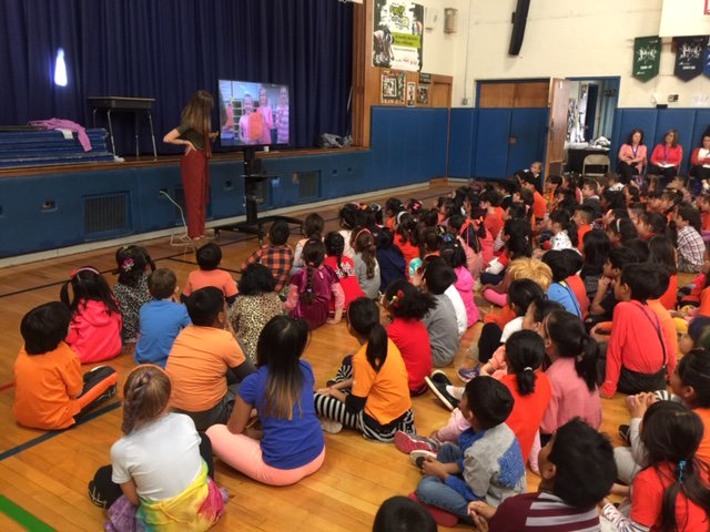 Searingtown School celebrated Unity Day on Oct  24 in an