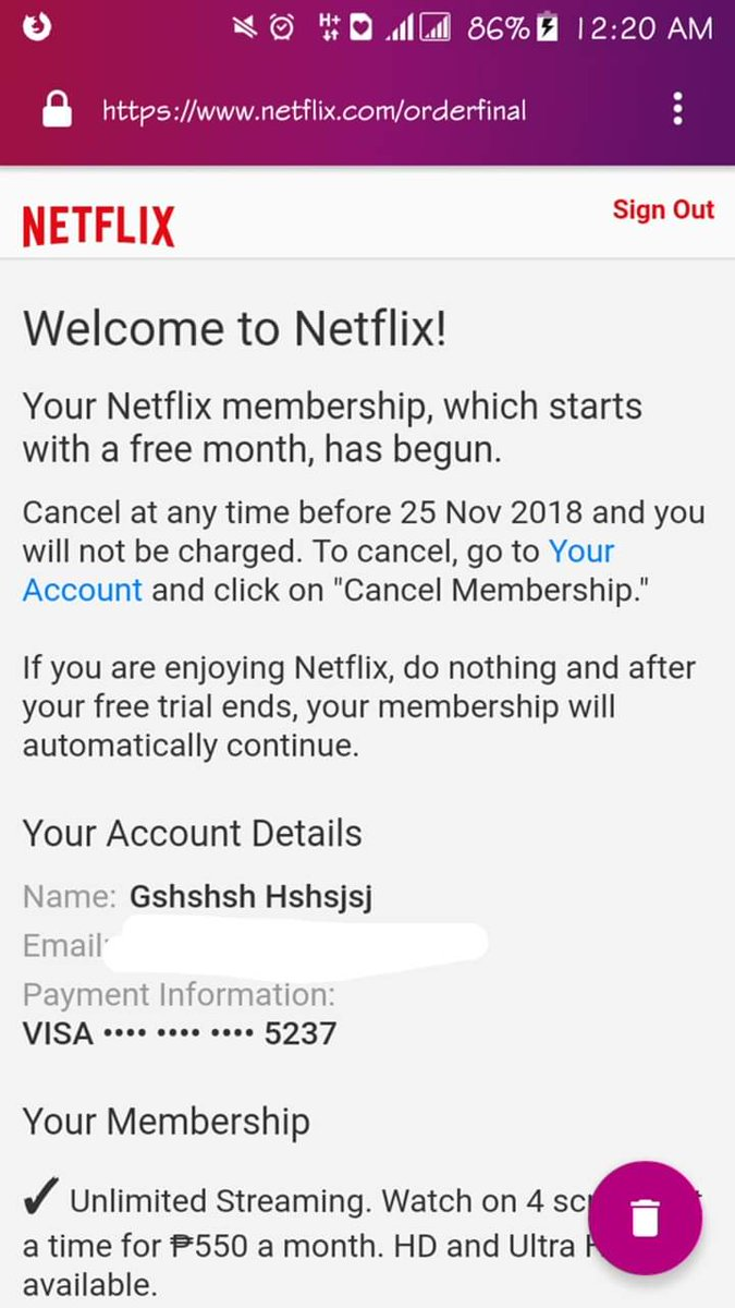 BIN NETFLIX VIA PAYPAL 26/10/2018(All 100% Working!!) +