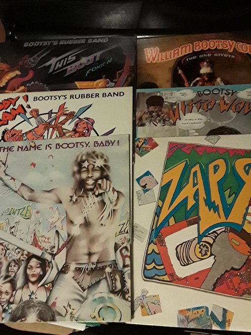 Happy Birthday!!! Bumpin my Bootsy collection in your honor!