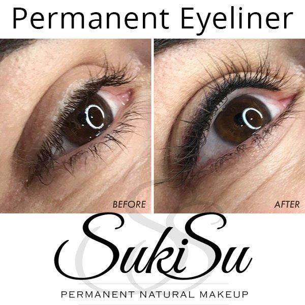 Suki Natural Makeup On Twitter Before After Permanent Eyeliner