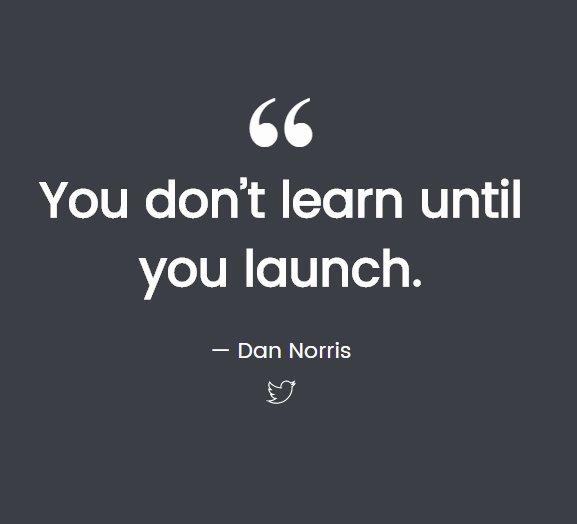 You don't learn until you launch.   http:// bit.ly/9WebbOfficial      | sales@9webb.com | +92308 2090 339 | #9Webb #Webhosting #BrandedSMS #SMSmarketing #EmailMarketing<br>http://pic.twitter.com/WzoAXSxh1l