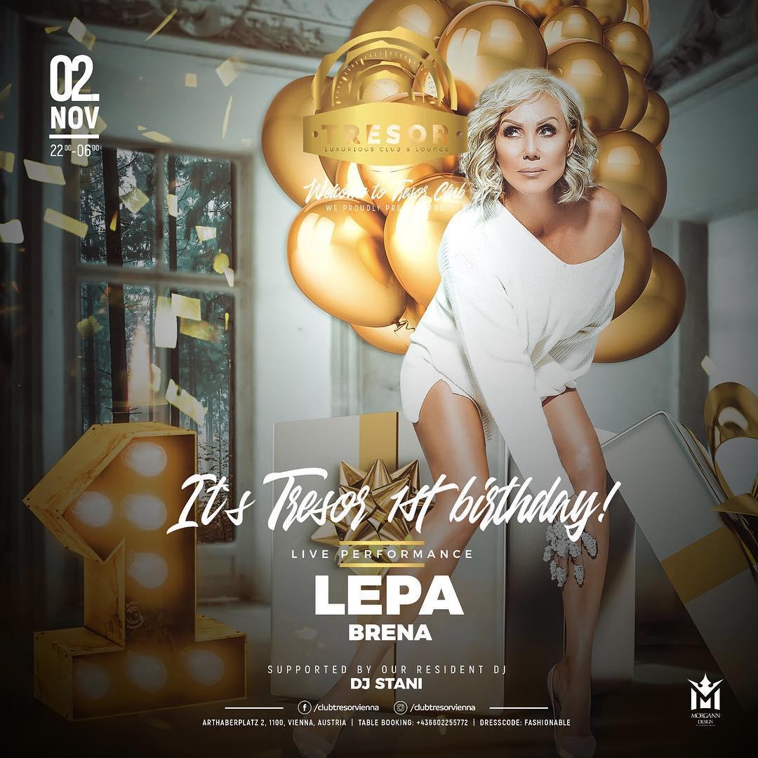 #LEPA #BRENA🌟  #live 02.11.2018g  #Tresor #Club #BEC #Austrija.. #srecnazena #bolisineprolazis #zarjevaznodalsepevailipjeva #Hdsv @LepaBrena_TW 🌹❤