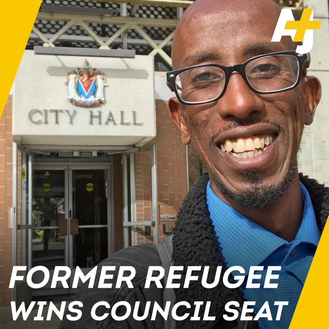 This Somali refugee was elected city councillor Canada.