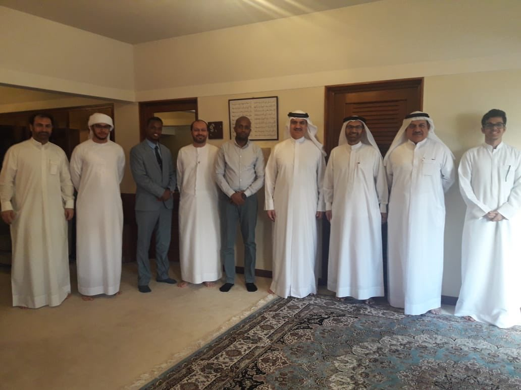Hassan Hirad Met With Gov Officials The CEO Of Dubai Electricity Mr Irfan Infrastructure Sector Tablib And President UAEs