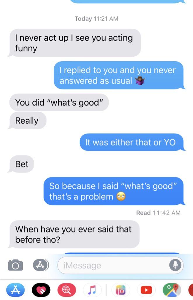 response to wassup