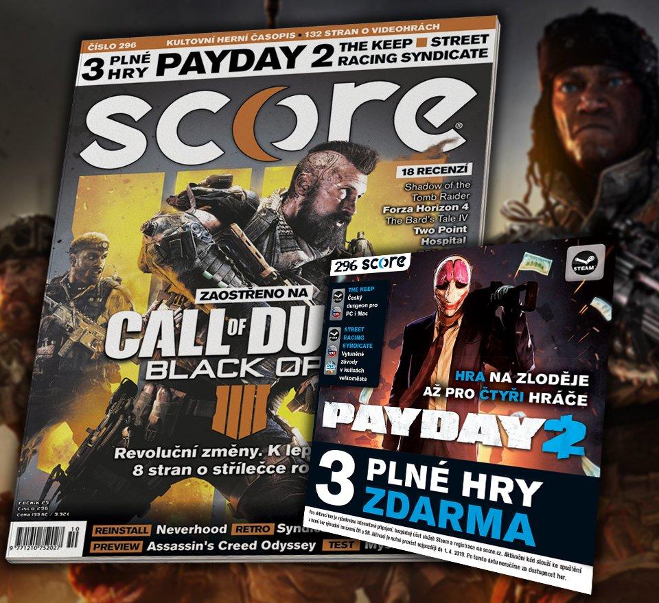 Na stáncích je SCORE s plnými hrami Payday 2 a The Keep. Kompletní obsah na webu. https://t.co/s7Lo7Hbw98 https://t.co/9swTPAZWF8