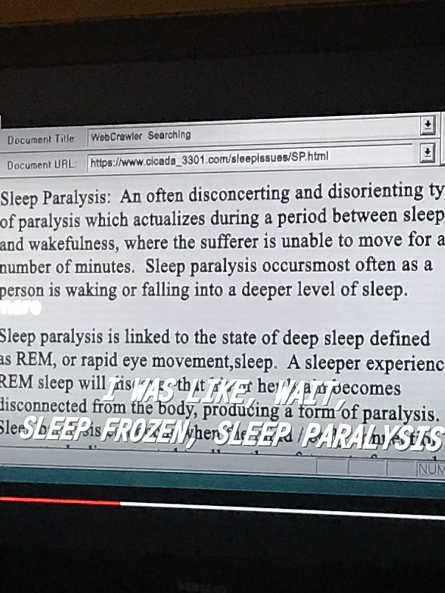 """no mana on twitter: """"watching a documentary about sleep paralysis"""