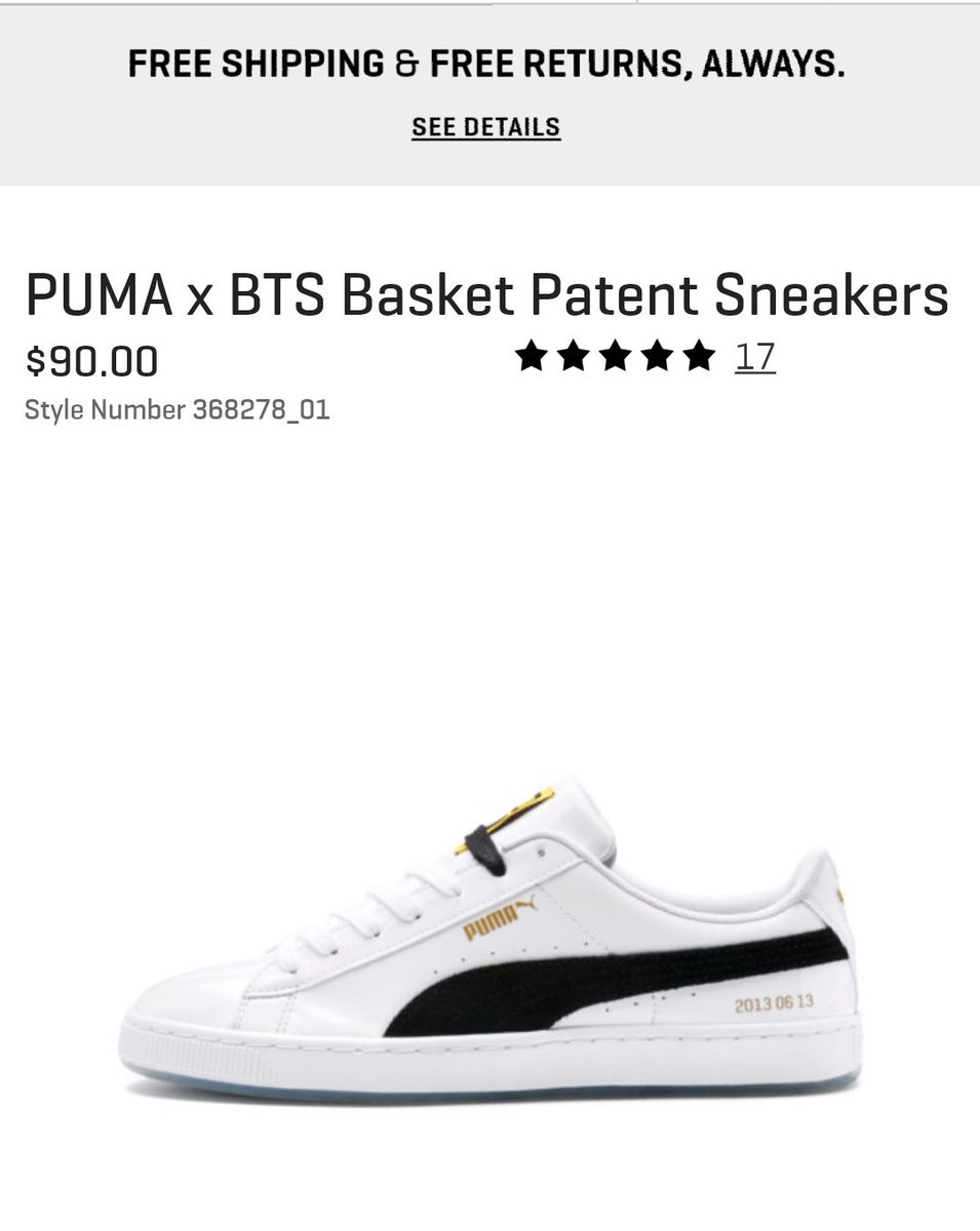 new style 6a77e 735a5 PUMAXBTS @BTS_twt Puma Basket in stock 4.5, 9.5, 10, 10.5 ...