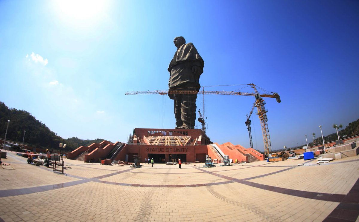 Pm To Visit Wall Of Unity At Statue Of Unity Premises