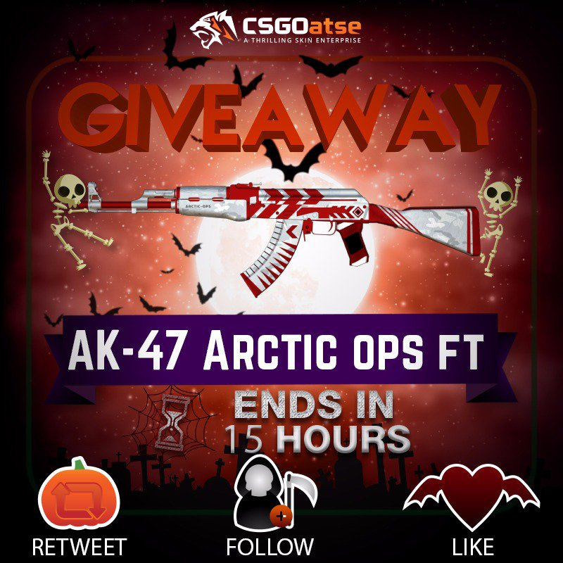 🐯🔥Daily VGO giveaway, AK47 Arctic Ops (FT)🔥🐯   ✅Like   ✅Follow  ✅Retweet      Good luck, ends in 15 hours!  💥Free atse-flips are now hourly and give 20% more coins💥   The $30,000 leaderboard ends in just 1 day! check it out here: http://csgoatse.com/coinhell