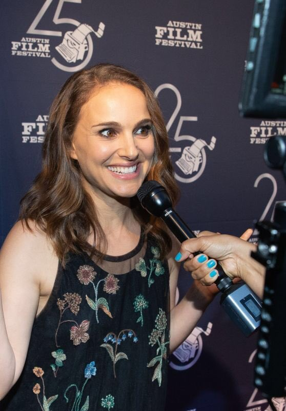 Natalie Portman attends the Austin Film Festival (October 25, 2018)