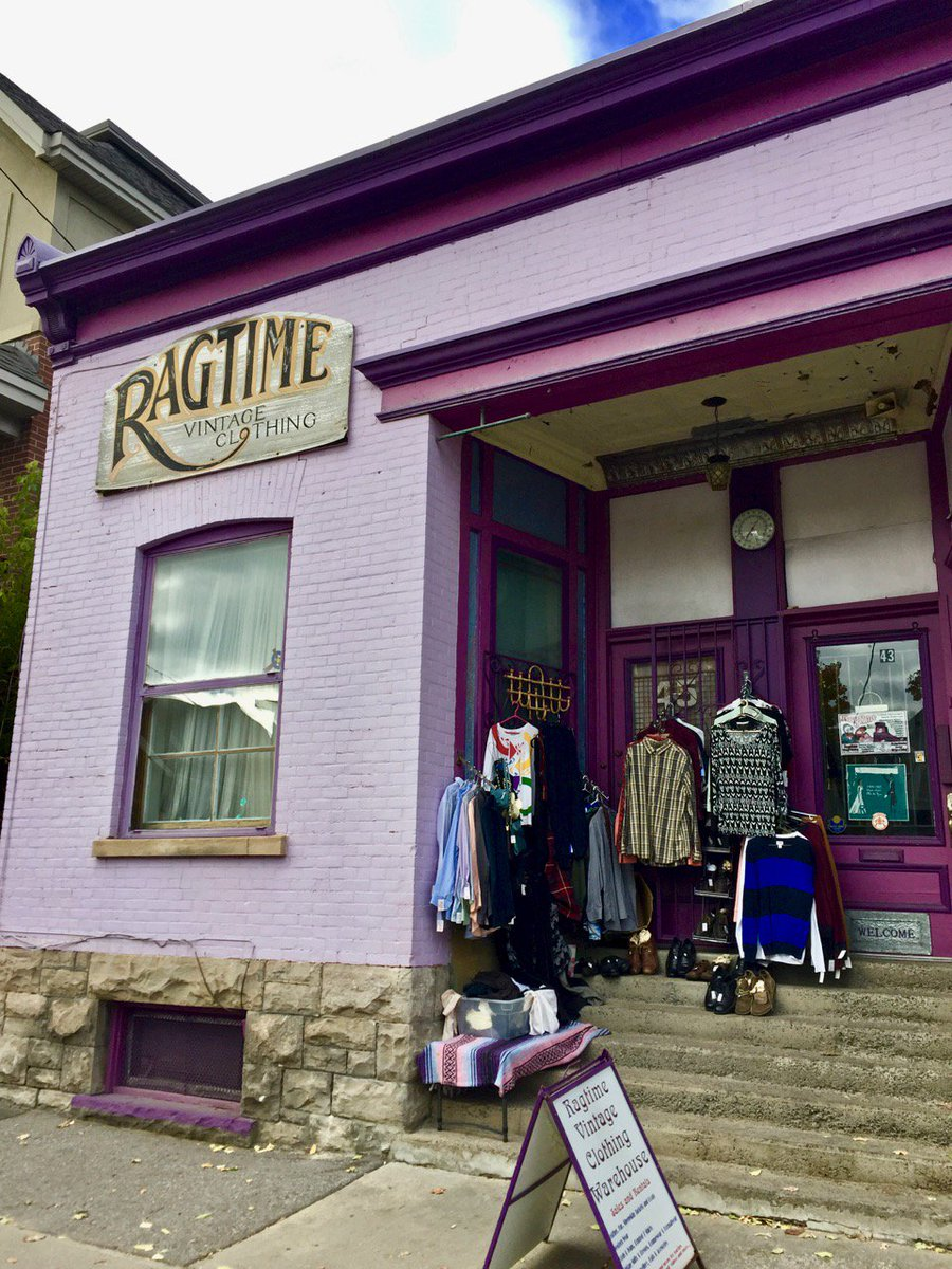 Our excellent neighbours at Ragtime Vintage Clothing are open as usual  today during Flora Fest,