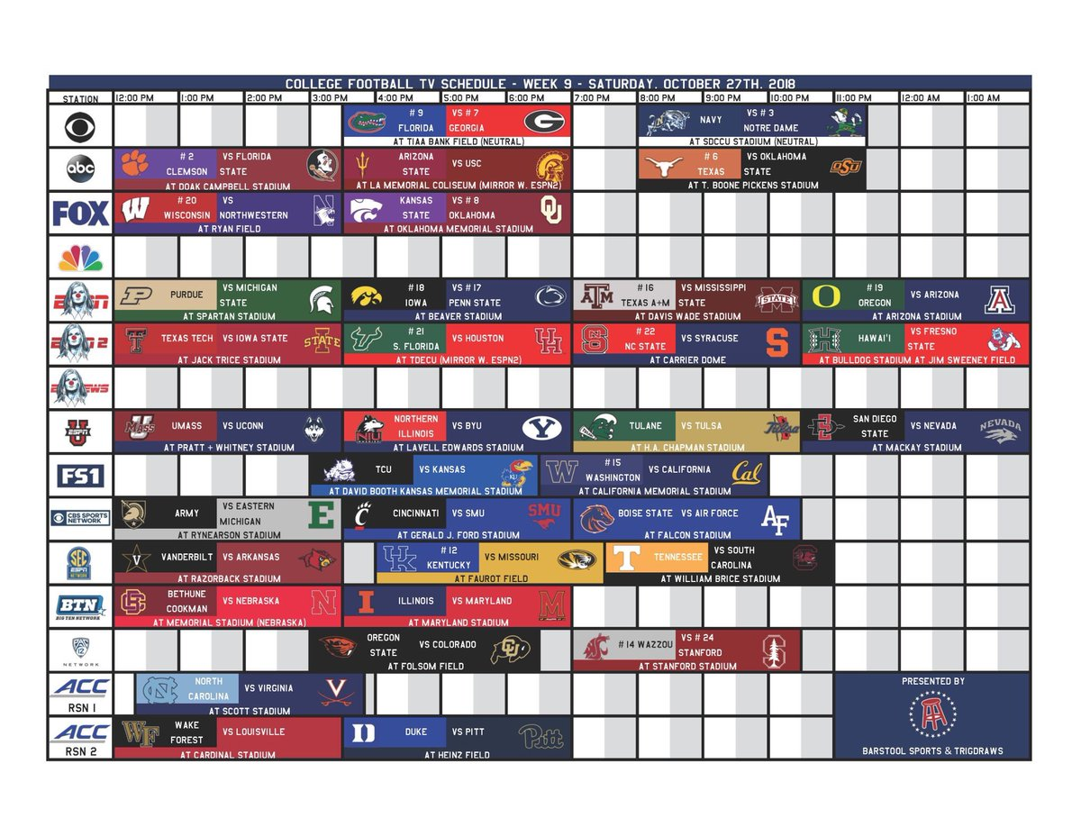 Barstool Sports On Twitter Your Week 9 Ultimate College