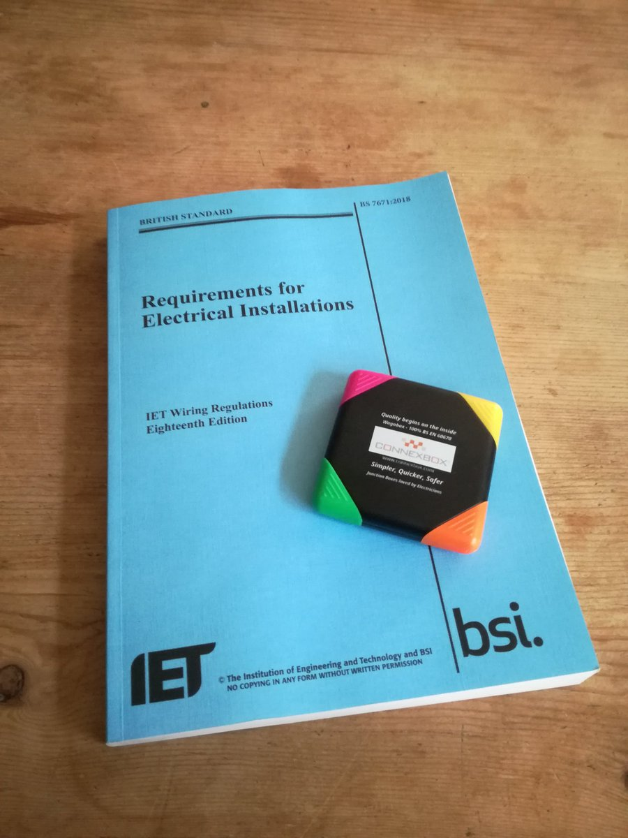 Wagobox On Wiring Regulations Book Big Thanks To For My Highlighter Will Come In Handy New Regs Http Pictwittercom Pdatduwpgb