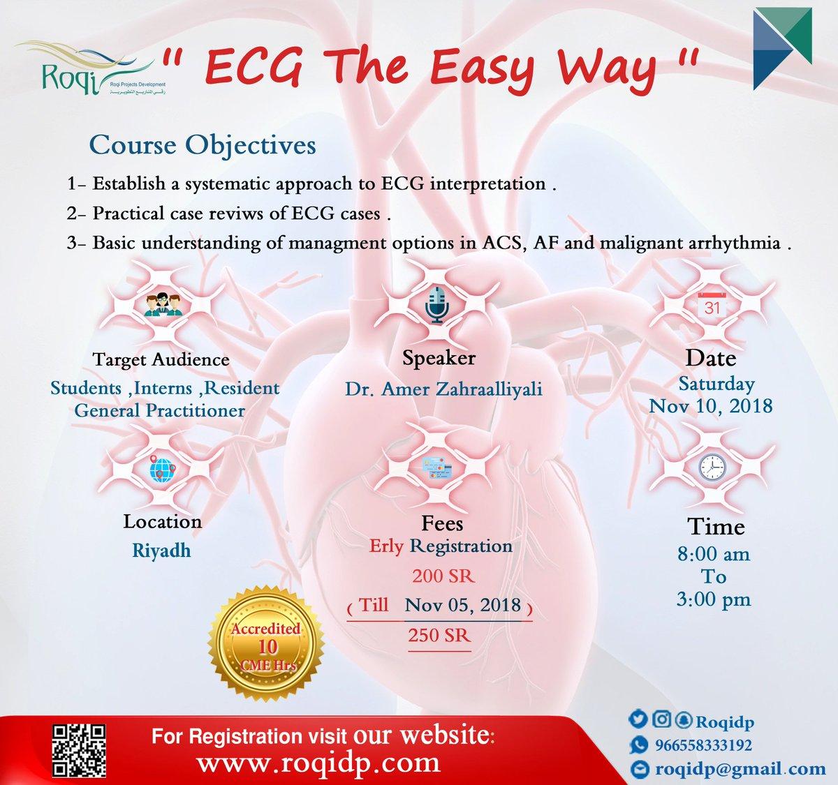 On Twitter Ecg The Easy Way Course Establish