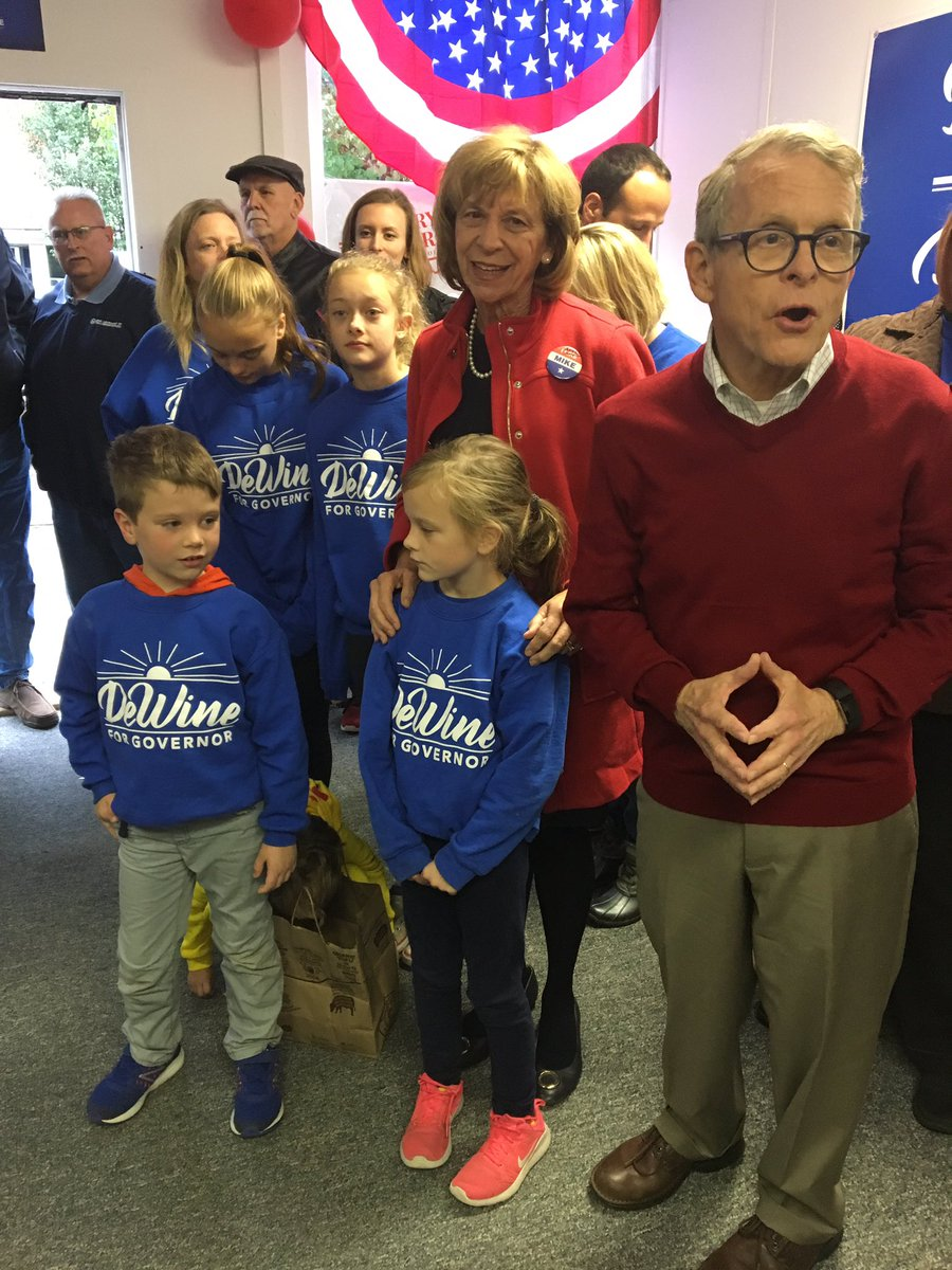 Jackson County was happy to have @MikeDeWine kick off our door knocking effort this morning. He reminded us of his plans for education, fighting the opioid epidemic and creating an atmosphere to encourage job growth.