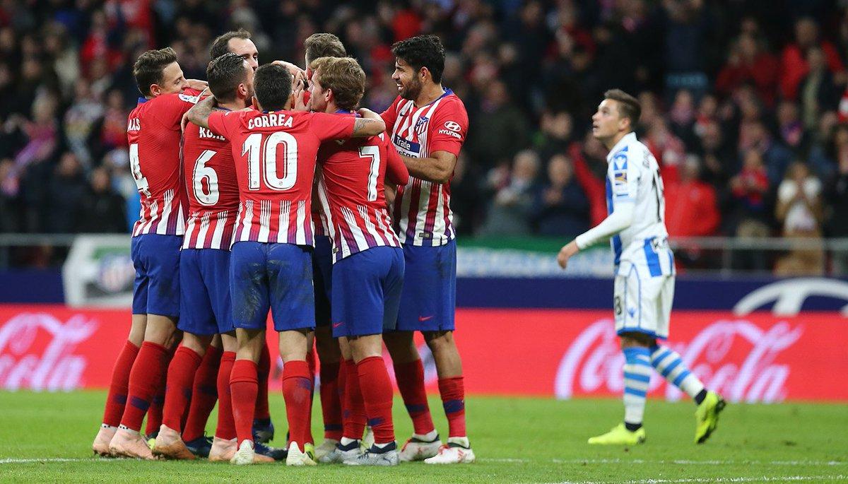 Atlético de Madrid vence a la Real Sociedad