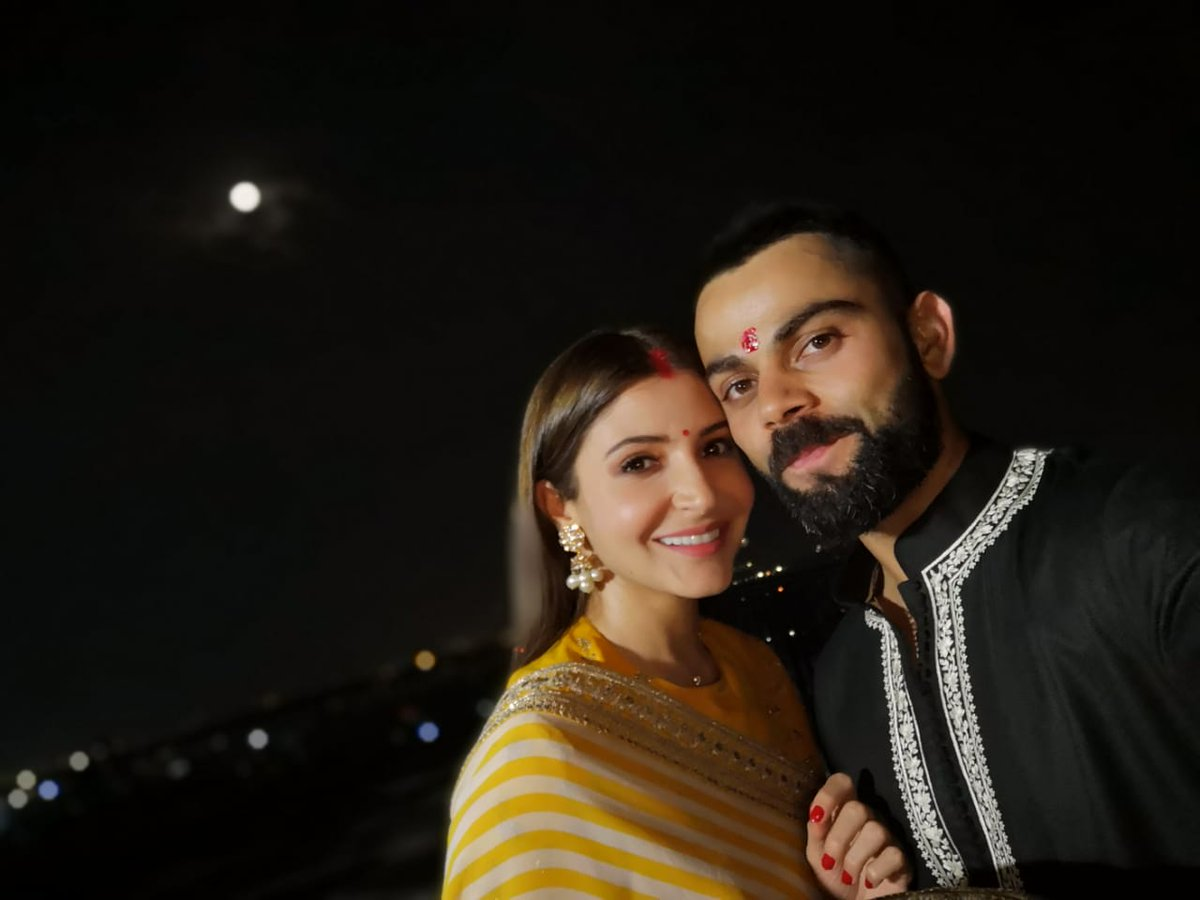 My moon , my sun , my star , my everything 🥰 Happy karva chauth to all 🌕🎉