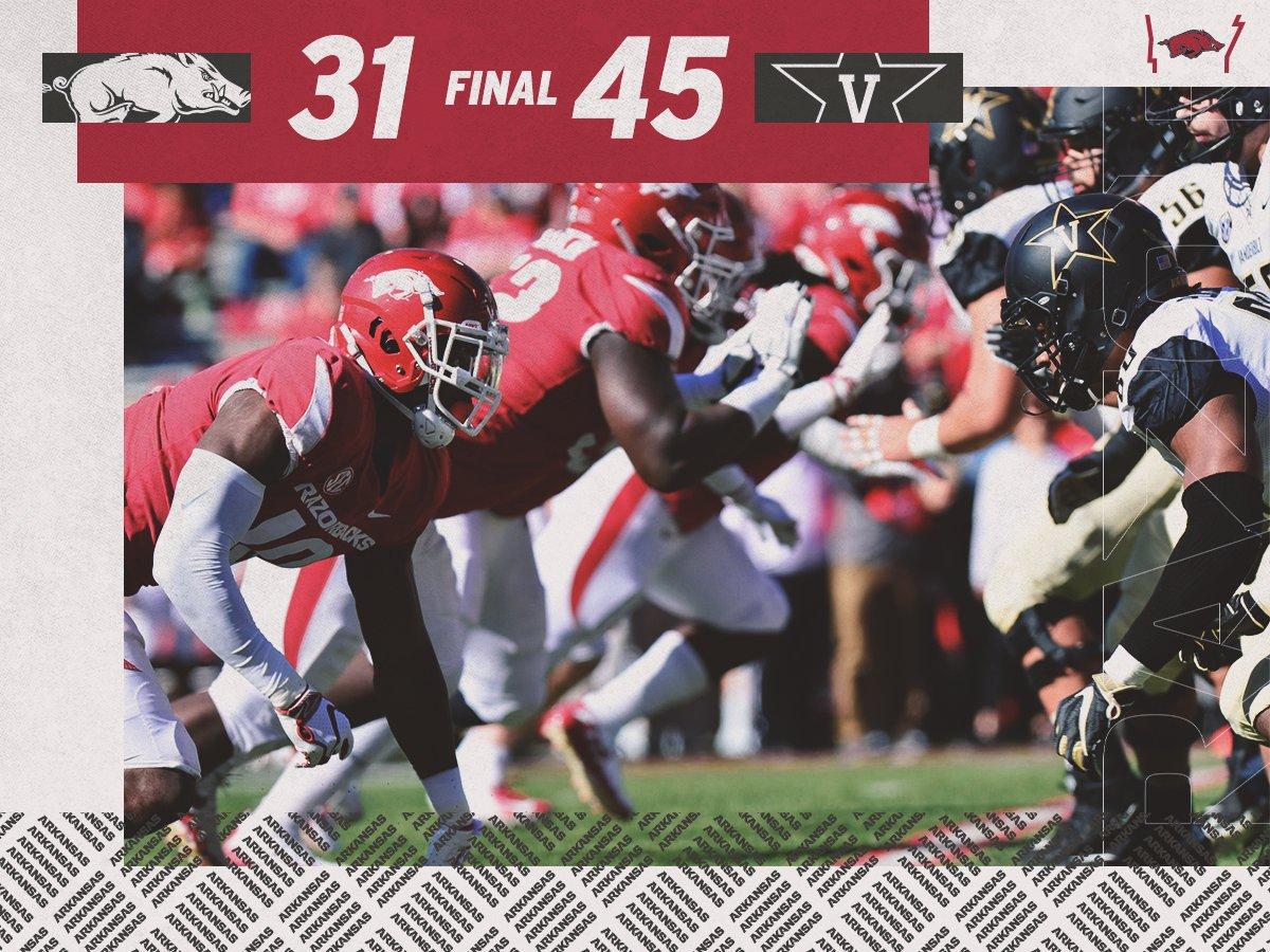 Arkansas Razorbacks Football On Twitter Final