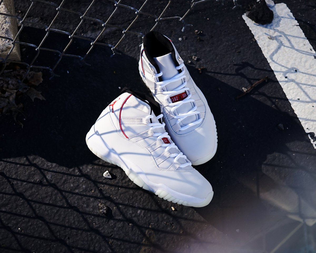 622220ec5cd2d9 Select sizes are still available in the Men s Air Jordan 11 Retro  Platinum  Tint  in-store at our Huntington location and online for phone email  orders. ...