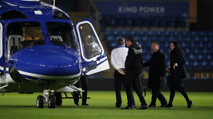 Helicopter of Leicester City owner crashes outside stadium