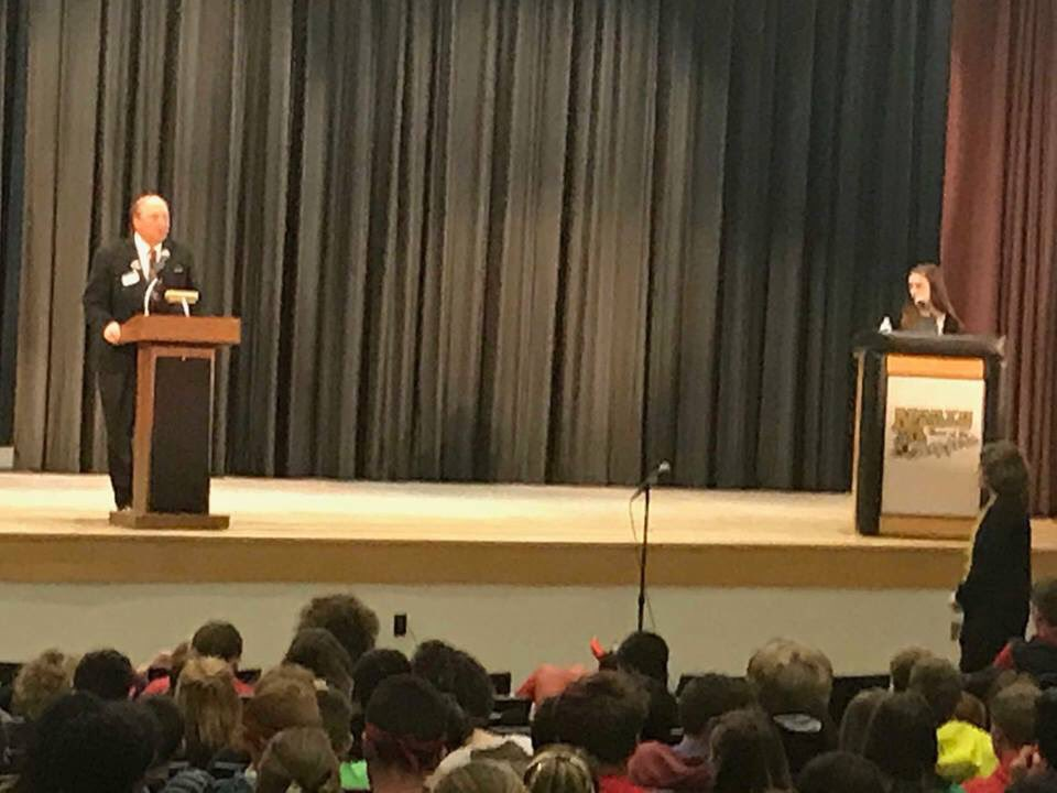 It was inspiring to speak at the North Kingstown HS's candidates day this week and see the genuine interest that so many of these students had in our future and their government. I was happy to be the only Senate candidate to take time out of their day to speak to the students. https://t.co/z5bP0p26vg