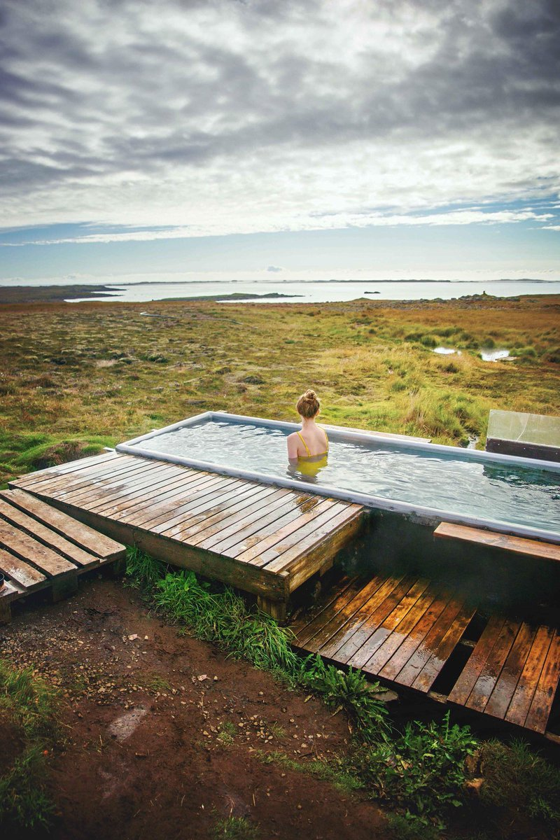 Finding hidden hot springs around #iceland is one of the coolest parts about traveling this amazing country!