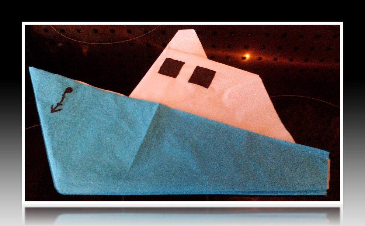 servietten falten boot