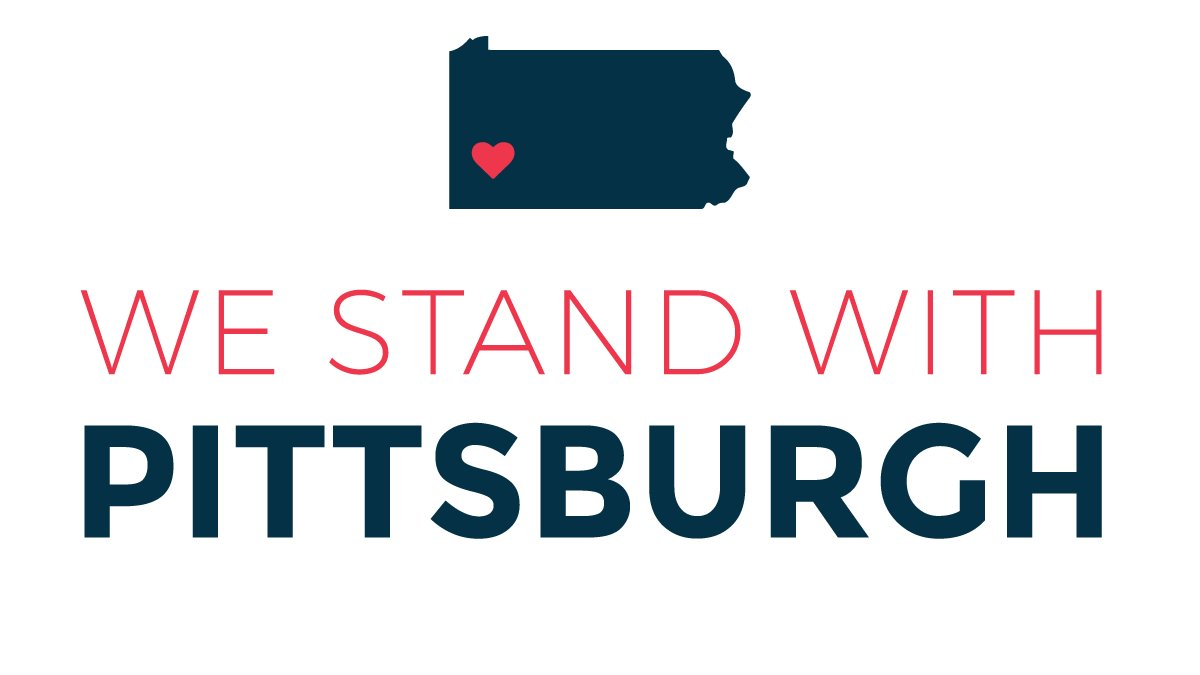 All of Pennsylvania stands with Pittsburgh. ❤️ #StrongerThanHate