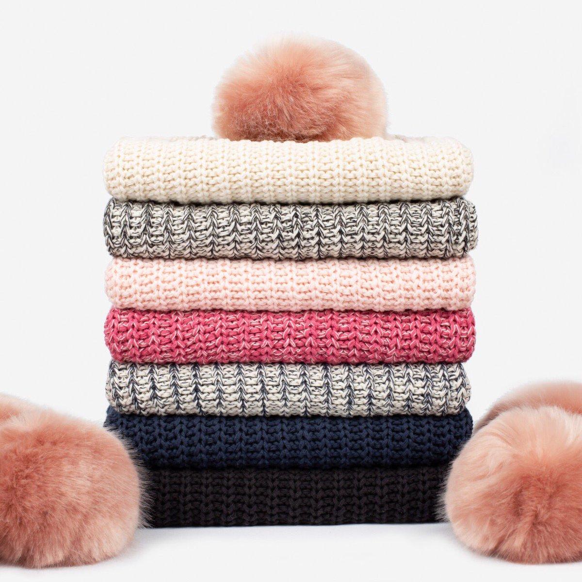67bc244124a Just two more days until we drop brand new blush pom beanies and kids pom  beanies - mark your calendars for Monday