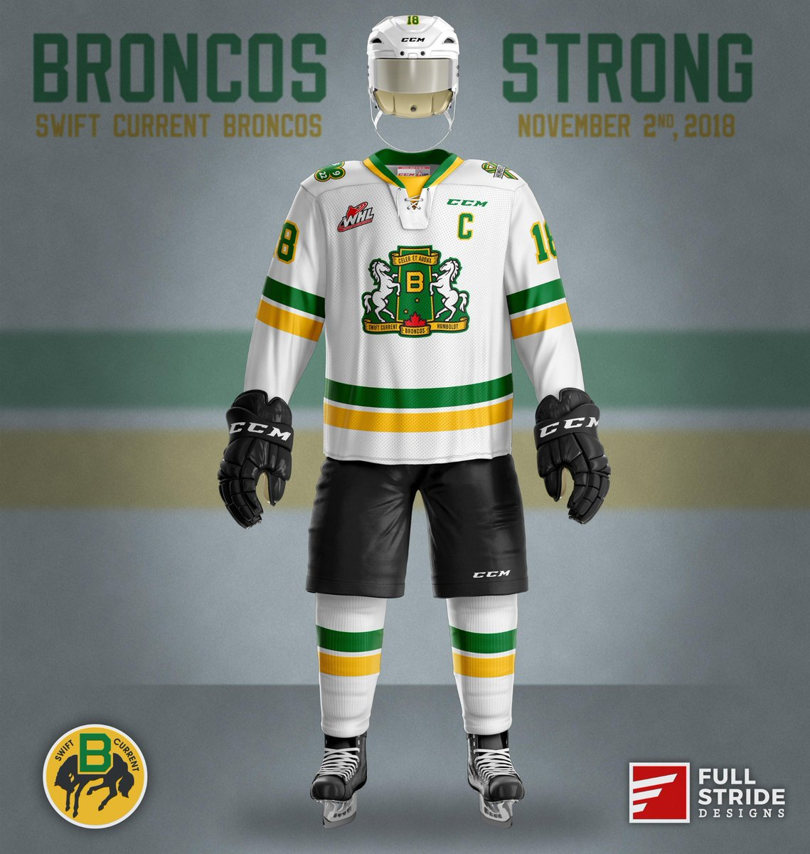 WHL: Swift Current Broncos To Honour Humboldt Victims With Special Jersey