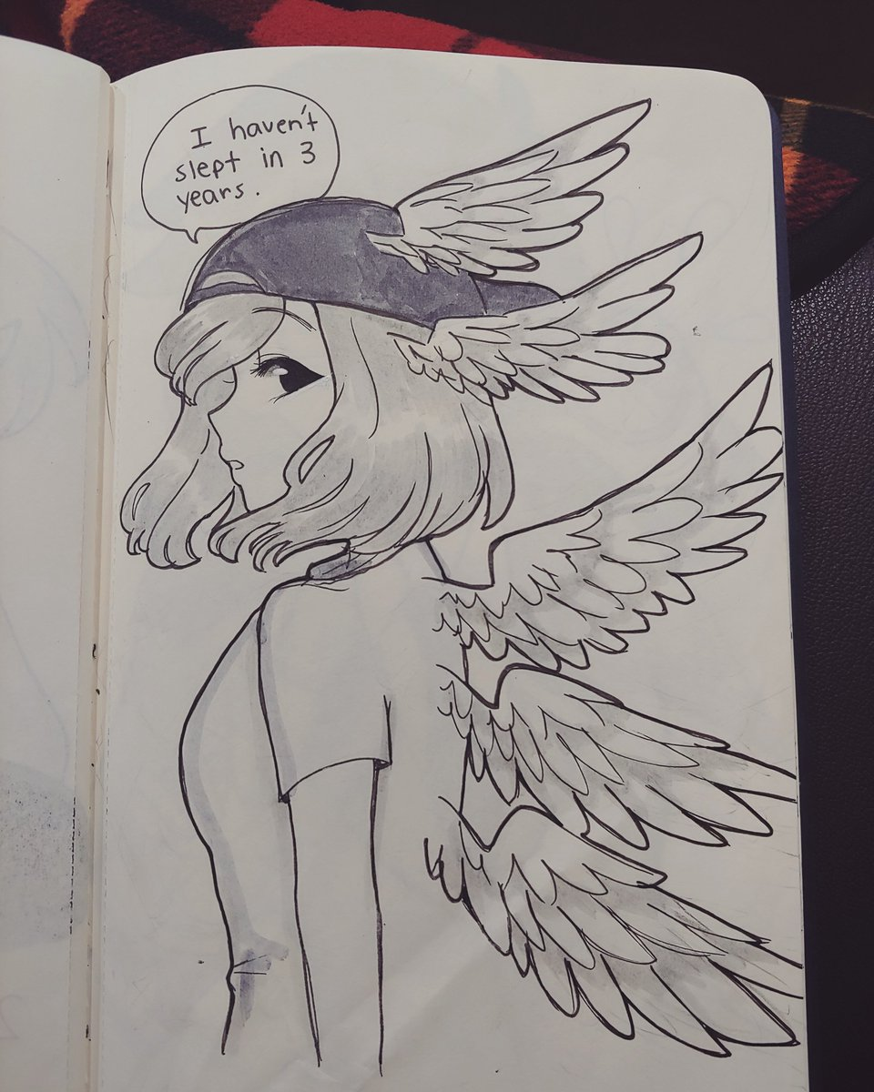 Day 24: @den2cypher with all the wings she's acquired from her redbull addiction