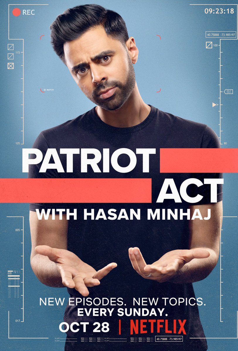 Image result for patriot act hasan minhaj