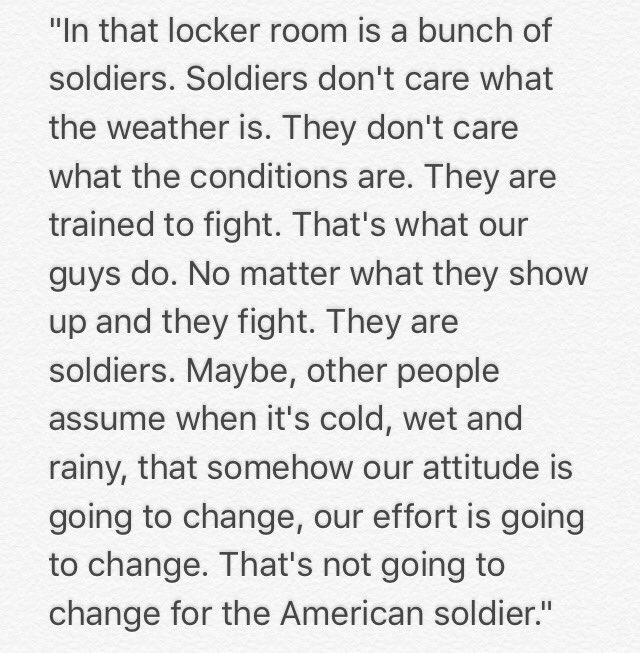 Jeff Monkens answer when asked if damp elements were to #ArmyFootball advantage against Eastern Michigan