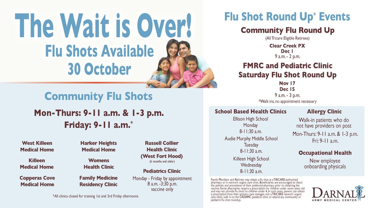 Fort Hood On Twitter Flu Shots Available For